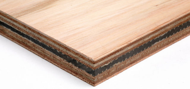 Image showing the layers of marine plywood for soundproofing