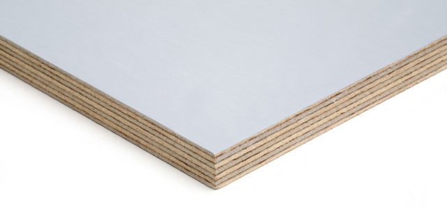 Image of our light grey faced plywood with glue lines