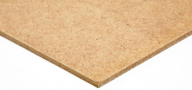 Close up image of standard hardboard