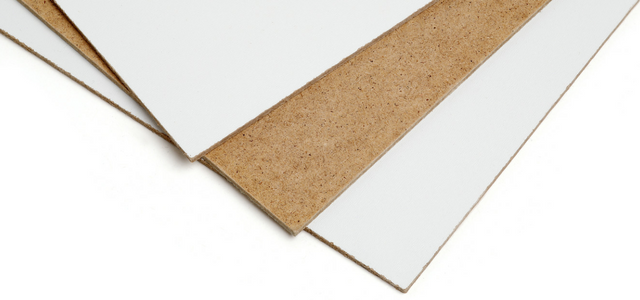 Selection of painted and non painted hardboard